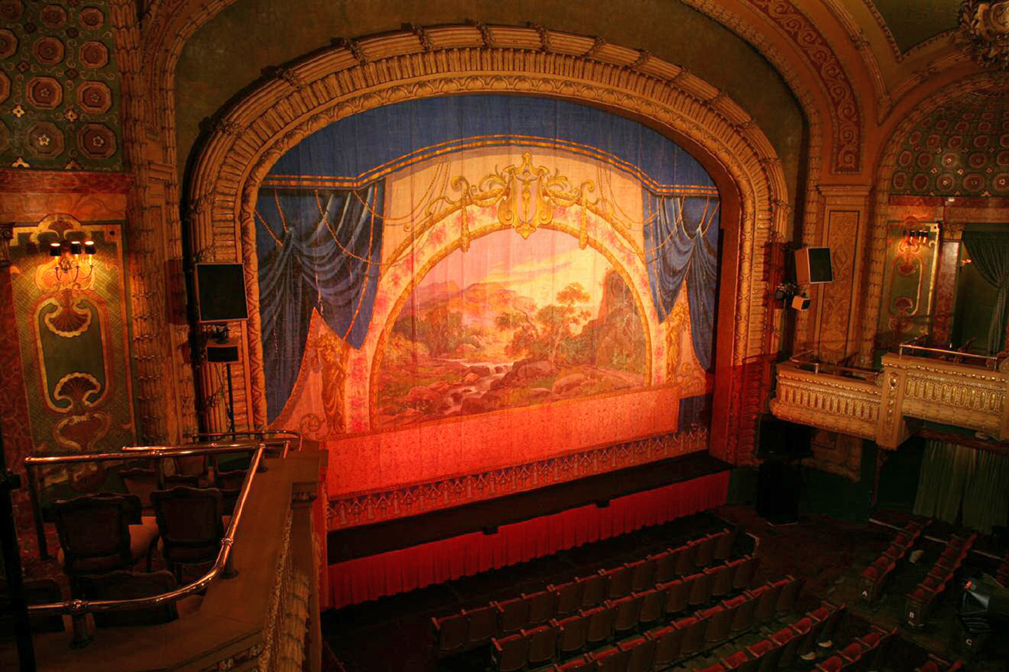 The Paramount Theatre fire curtain