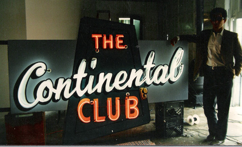 The Continental Club sign restoration