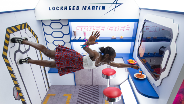 Lockheed Martin's Trade Show booth - Photo by Tico Mendoza