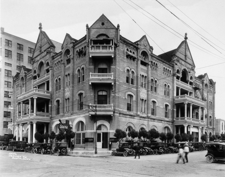 Historic exterior of the Driskill Hotel in Austin, Texas
