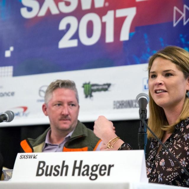Jenna Bush Hager at the 17 Ways Breakfast Is Transforming America panel, SXSW 2017