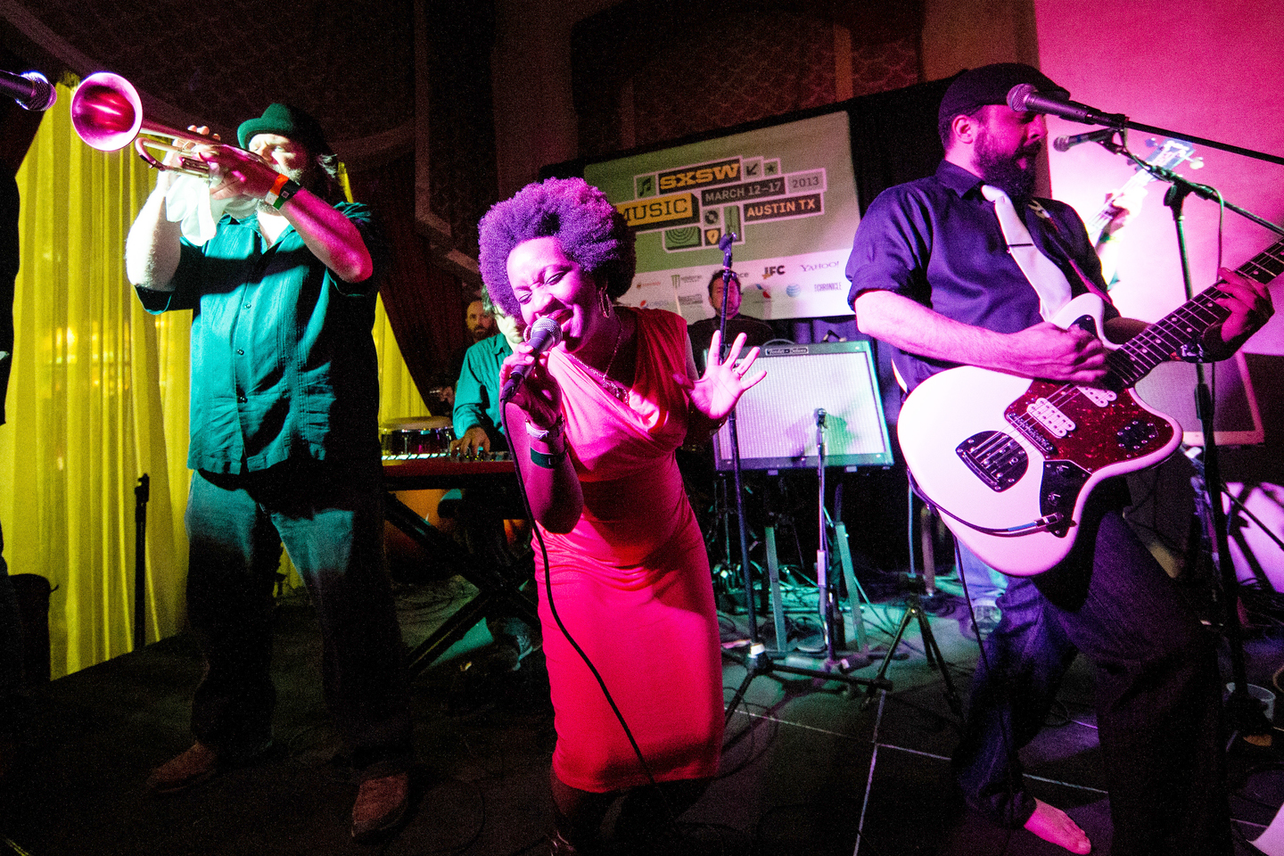 Akina Adderley performs in the Victorian Room at the Driskill Hotel in Austin, Texas at SXSW 2013