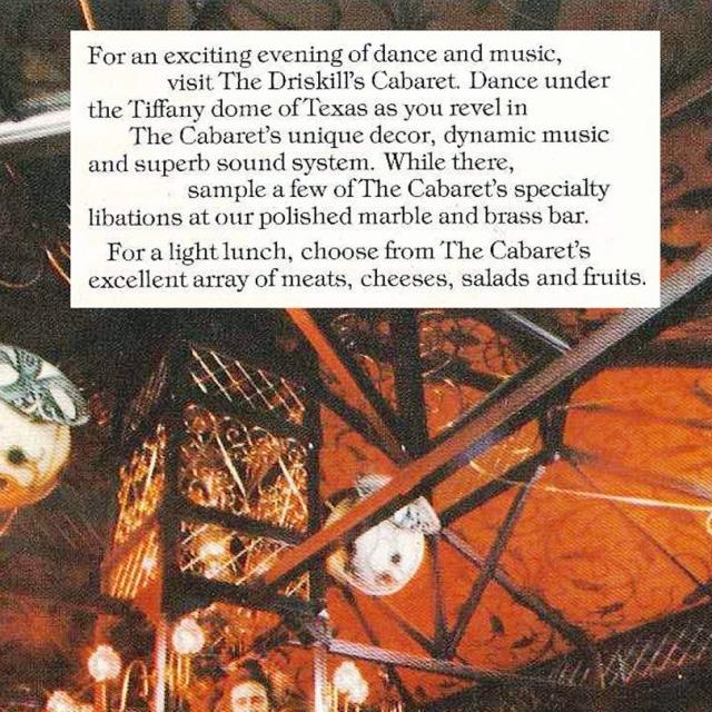 vintage Driskill Cabaret advertisement