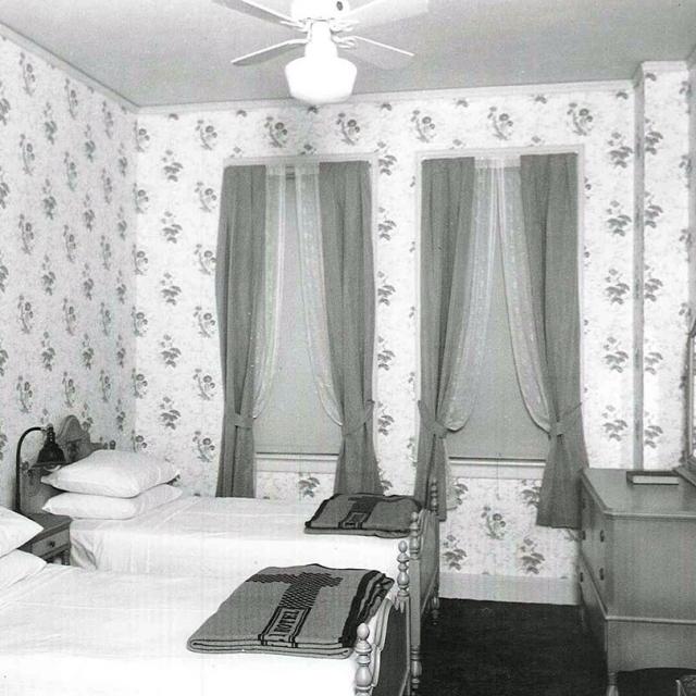 Historic Driskill guestroom at the hotel in Austin, Texas