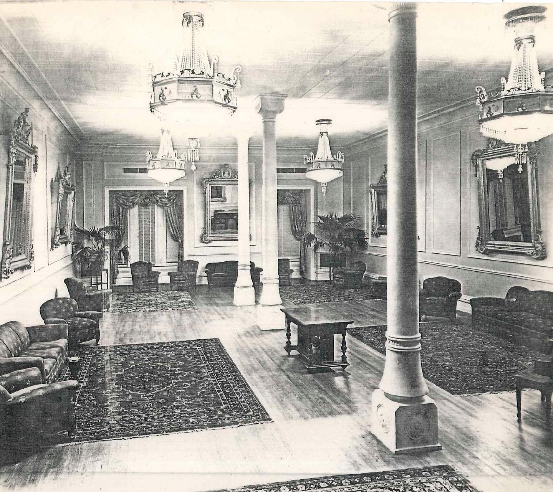 Maximillioan Room in The Driskill Hotel in Austin, Texas in the 1930s