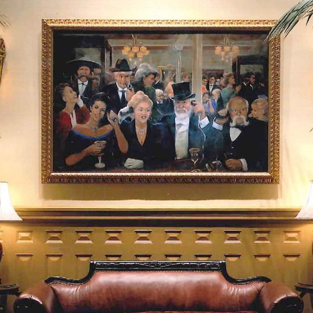A painting on the wall of the Driskill Hotel in Austin, Texas