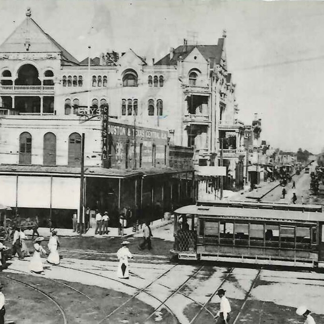 Sixth Street and Congress Avenue, Turn of the Century, in Austin, Texas