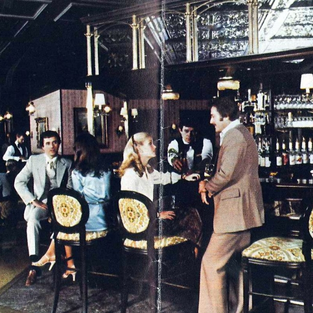 vintage Driskill Hotel Bar in Austin, Texas