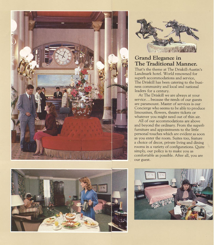 Driskill Hotel 1970s flyer