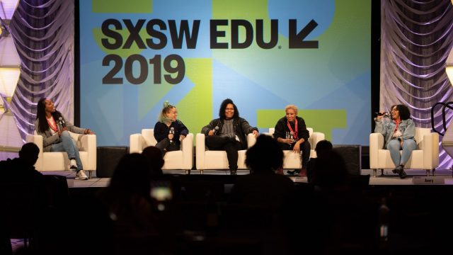 SXSW EDU 2019 panel. Photo by Tico Mendoza.