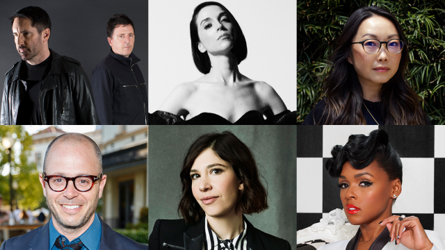 2020 SXSW Keynotes: (l-r) Trent Reznor and Atticus Ross, St. Vincent a/k/a Annie Clark, Lulu Wang, Damon Lindelof, Carrie Brownstein, and Janelle Monáe