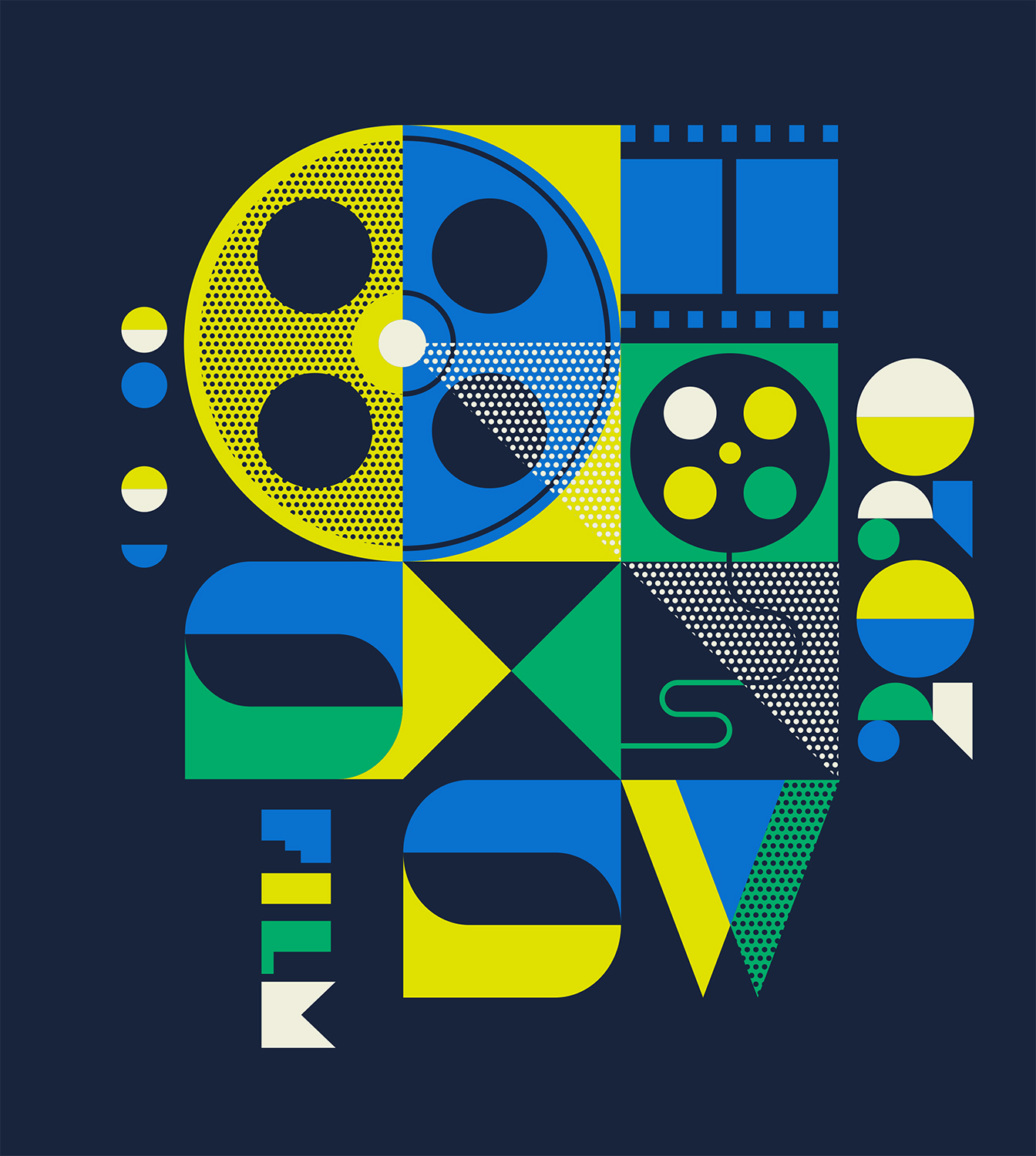 SXSW Film t-shirt artwork for 2020 by Ty Mattson