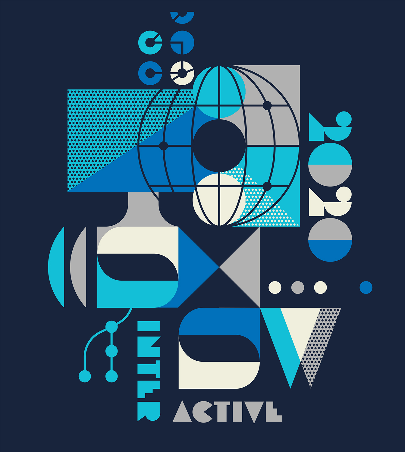 SXSW Interactive t-shirt artwork for 2020 by Ty Mattson