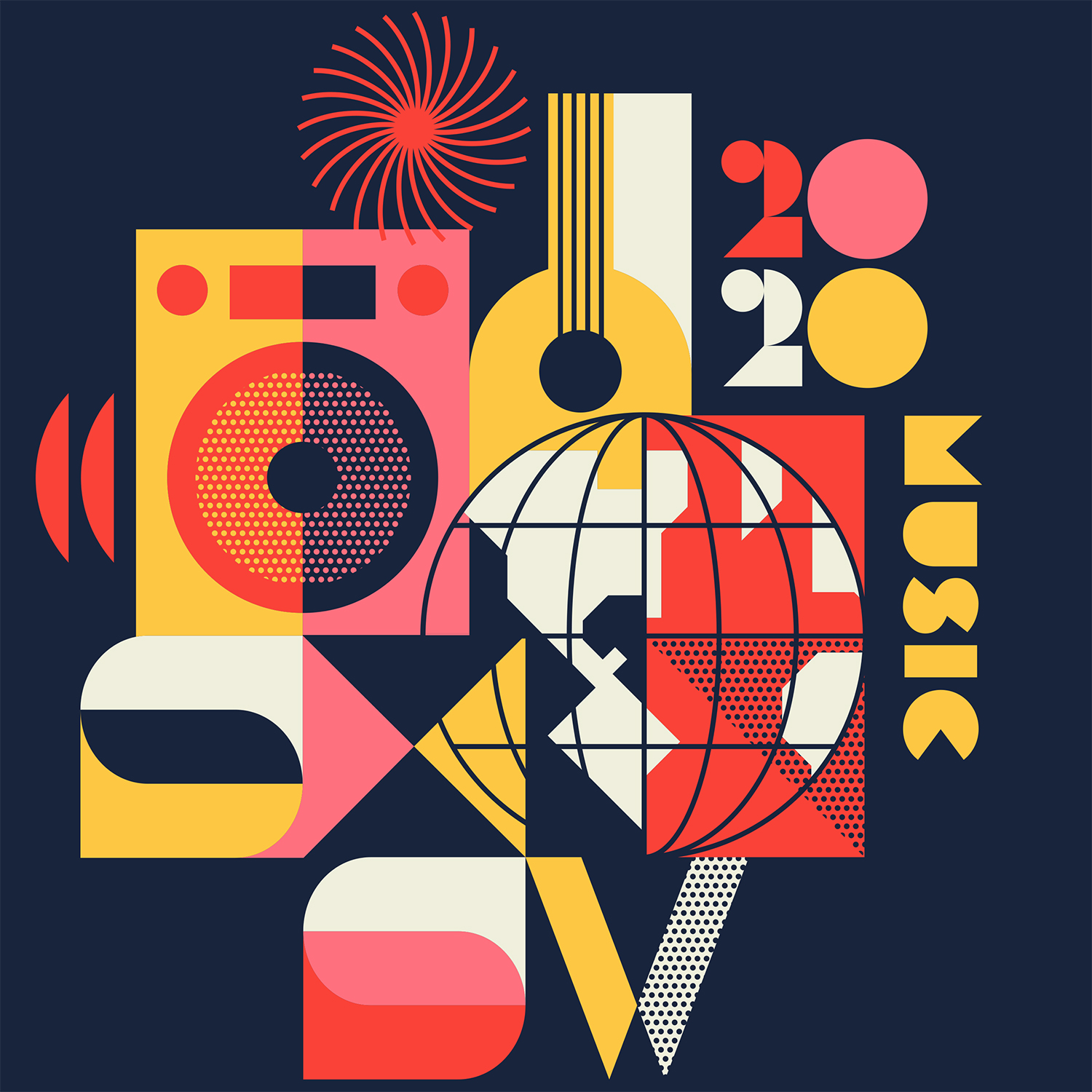 SXSW Music t-shirt artwork for 2020 by Ty Mattson
