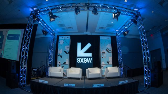 A session room at the Austin Convention Center at SXSW 2019. Photo by Anthony Moreno.