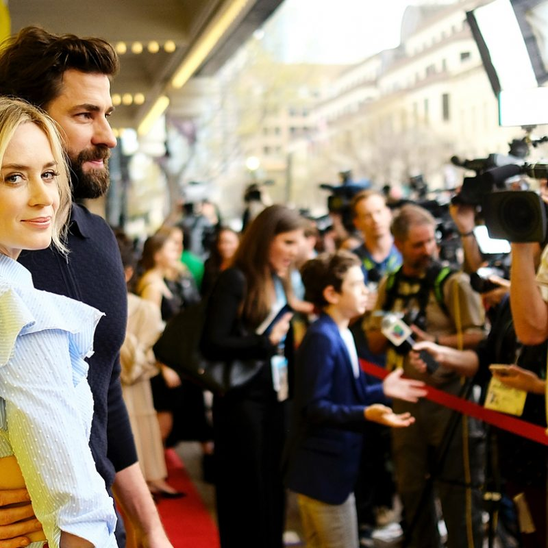"""Emily Blunt and John Krasinski attend the premiere of """"A Quiet Place"""" at SXSW 2018. Photo by Matt Winkelmeyer/Getty Images for SXSW."""