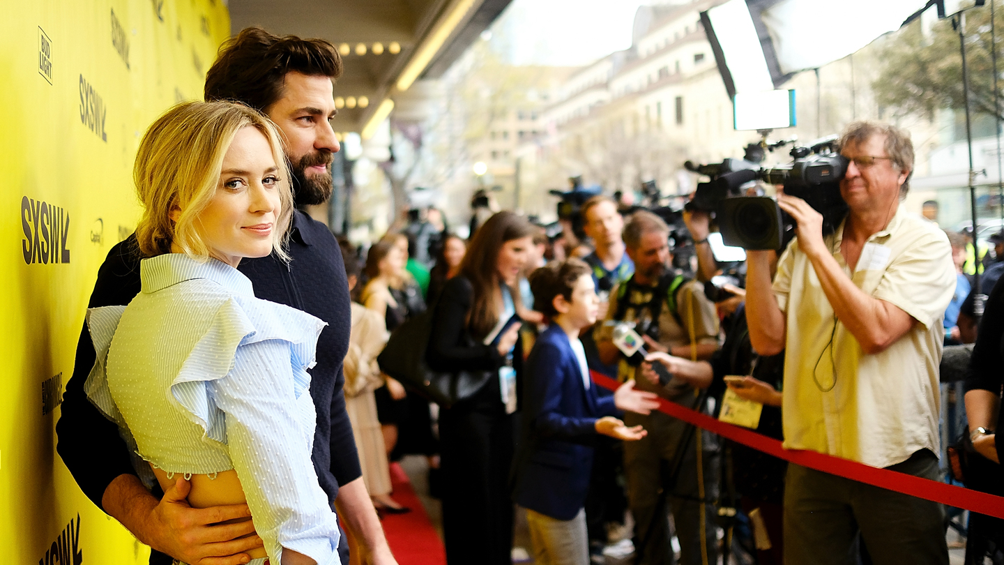 "Emily Blunt and John Krasinski attend the premiere of ""A Quiet Place"" at SXSW 2018. Photo by Matt Winkelmeyer/Getty Images for SXSW."