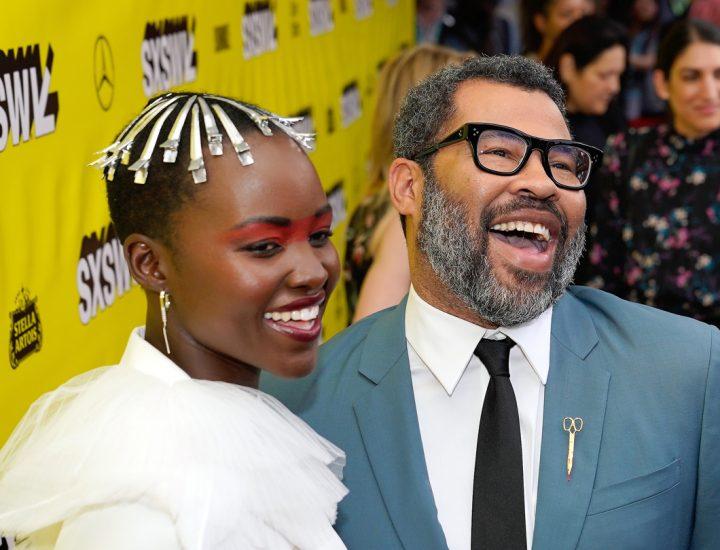 Actress Lupita Nyong'o and writer/director Jordan Peele attend the
