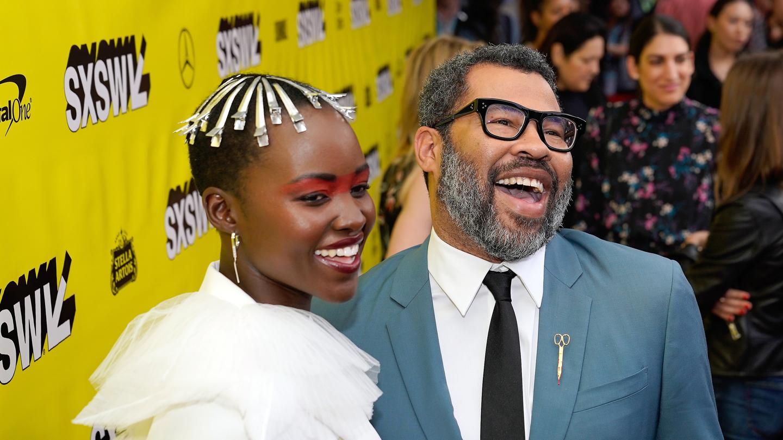 Lupita Nyong'o and Jordan Peele -