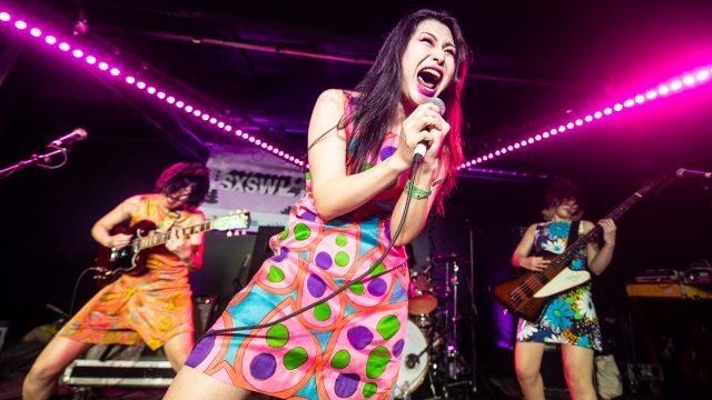 Otoboke Beaver performs onstage at the Music Opening Party during SXSW 2019. Photo by Adam Kissick.