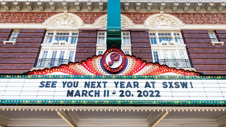 2022 SXSW Dates on Paramount Marquee - Photo By Ann Alva Wieding