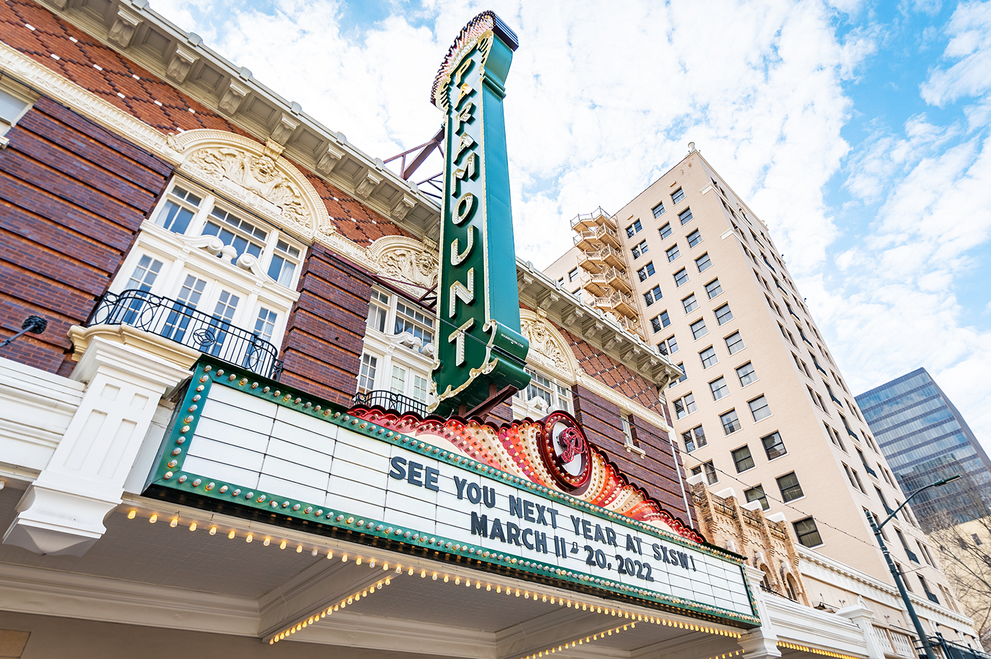 2022 SXSW Dates on Paramount Marquee - Photo By Ann Alva Wieding