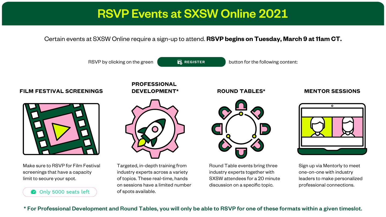 SXSW RSVP Events