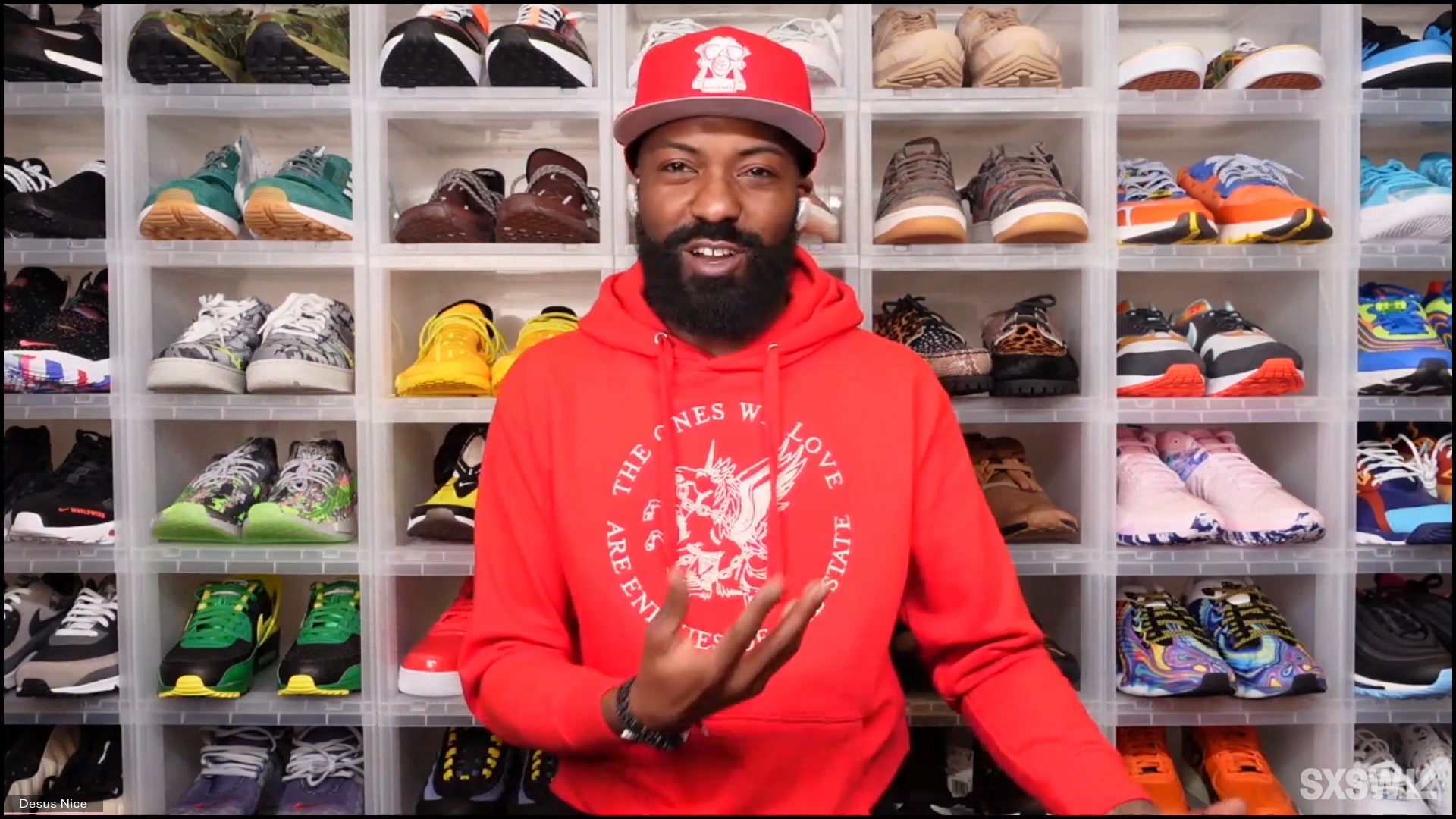 """Desus Nice speaks at the featured session """"A Conversation with Desus Nice and The Kid Mero"""" during SXSW Online on March 17, 2021."""