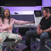 """Cristiano Amon and Steve Aoki speak at the featured session """"Can 5G Transform the Live Music Experience?"""" during SXSW Online on March 18, 2021."""