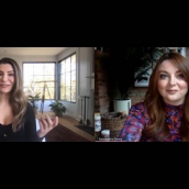 """Samantha Barry speaks with Nasim Pedrad in the session """"Homeroom with Nasim Pedrad, creator of TBS's new comedy series Chad"""" at SXSW Online on March 18, 2021."""