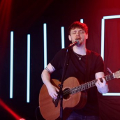Ryan McMullen performs at the SXSW Music Festival showcase presented by the British Music Embassy with Output Belfast during SXSW Online on March 18, 2021.