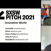SXSW Pitch participant MolyWorks wins the Innovative World category at the SXSW Pitch Awards during SXSW Online on March 20, 2021.