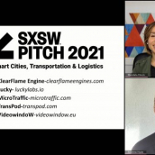 SXSW Pitch participant MicroTraffic wins the Smart Cities, Transportation & Logistics category at the SXSW Pitch Awards during SXSW Online on March 20, 2021.