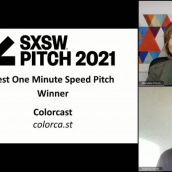 SXSW Pitch participant Colorcast wins the Best One Minute Speed Pitch category at the SXSW Pitch Awards during SXSW Online on March 20, 2021.