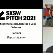 SXSW Pitch participant Parrots wins the Artificial Intelligence, Robotics & Voice category at the SXSW Pitch Awards during SXSW Online on March 20, 2021.
