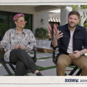 """Demi Lovato and Michael D. Ratner answers questions at the SXSW Film Festival Premiere of """"YouTube Originals Docuseries """"Demi Lovato Dancing with the Devil"""" Special Event Q&A"""" during SXSW Online on March 16, 2021"""