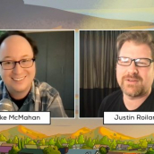 """Mike McMahan and Justin Roiland answer questions at the SXSW Film Festival Premiere of """"Solar Opposites Table Read & SHLORPION SILENT (AND ALONE) DISCO"""" during SXSW Online on March 18, 2021."""
