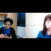 """Indra Nooyi and Naoko Yamazaki speak during their featured session, """"The Boardroom to the Moon: Repairing our Planet"""" at SXSW Online on March 18, 2021"""