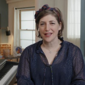 """Mayim Bialik speaks at the featured session """"Why Do We Fear Innovation?"""" during SXSW Online on March 17, 2021."""