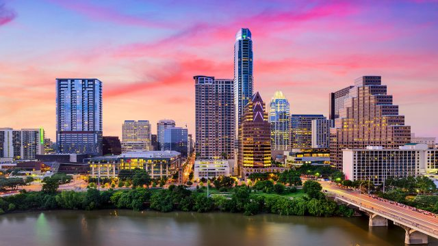 Austin skyline - SXSW Housing & Travel